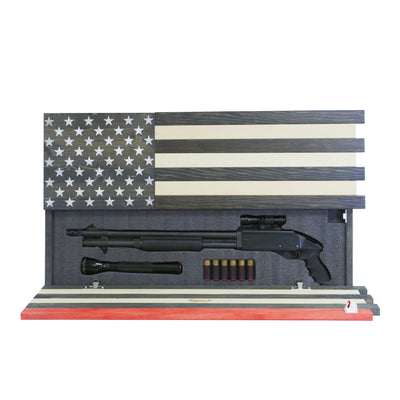 Dual Compartment Gun Concealment American Flag *Thin Red Line