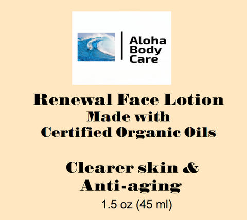 Renewal Face Lotion. - Tylers Online