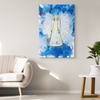 Image of Angel Watcher, A glorious guardian angel canvas for your home.