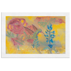Wall Canvas - Hummingbird Feasting
