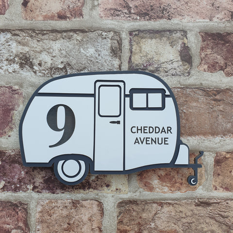 Caravan House Sign/ House Number