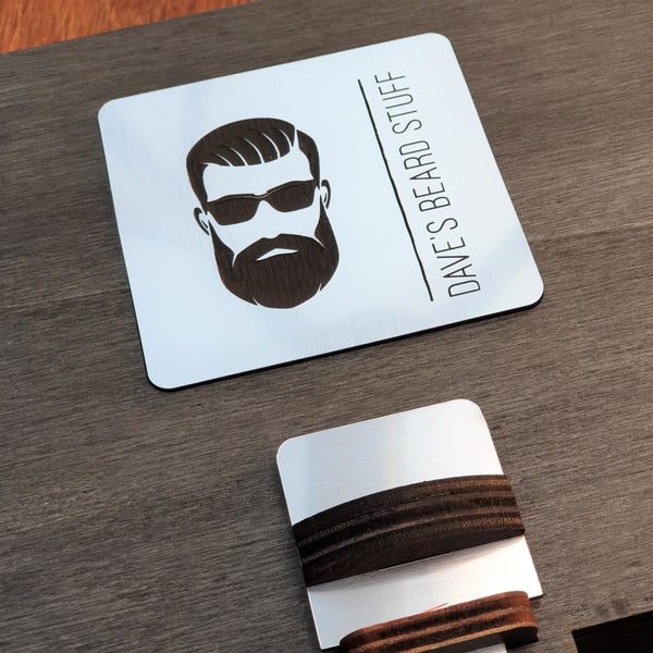 Personalised Wooden Gift Box - Men's Grooming Kit/ Beard Products