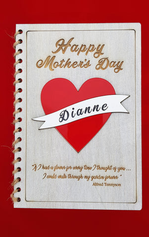 Mothers Day Card - Heart with Engraved Banner (CA 2503)