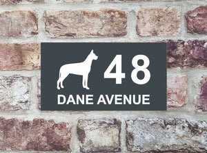 House Sign - HS 2014 Great Dane