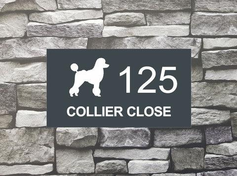 House Sign - HS 2020 Poodle