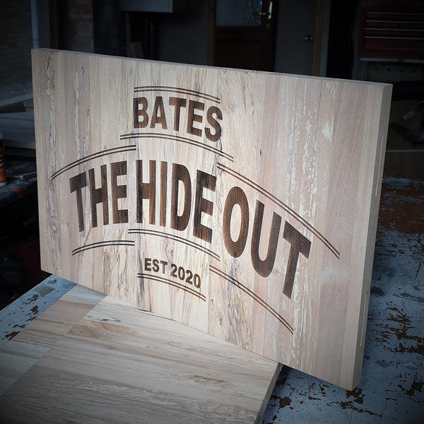 Made to Order Cutting & Engraving - Chopping Board/ Bar Top/ Wall Plaque/ Clipboard