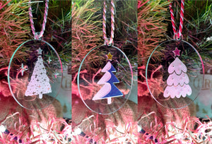 Funky Christmas Tree Themed Decorations - Set #2