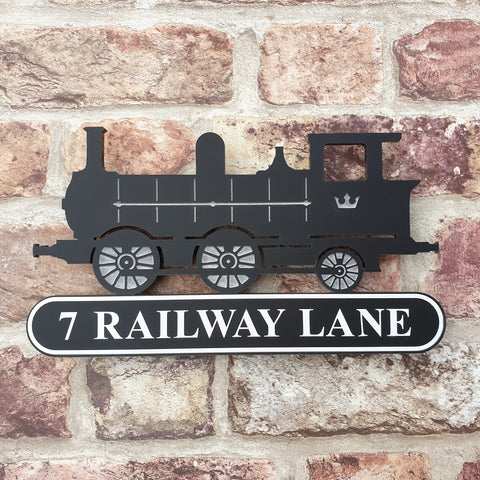 Steam Train House Sign /Workshop/Den/Hobby Room