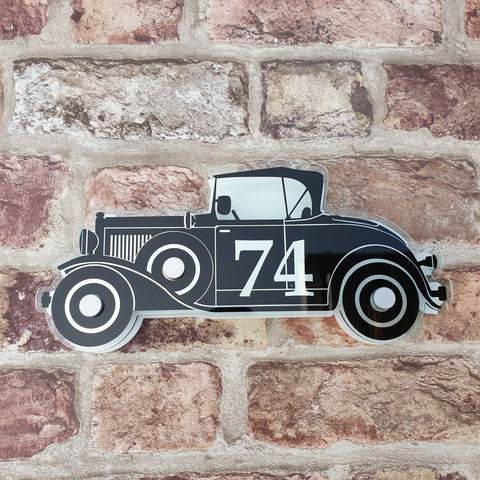 Vintage Car House Sign/ Number