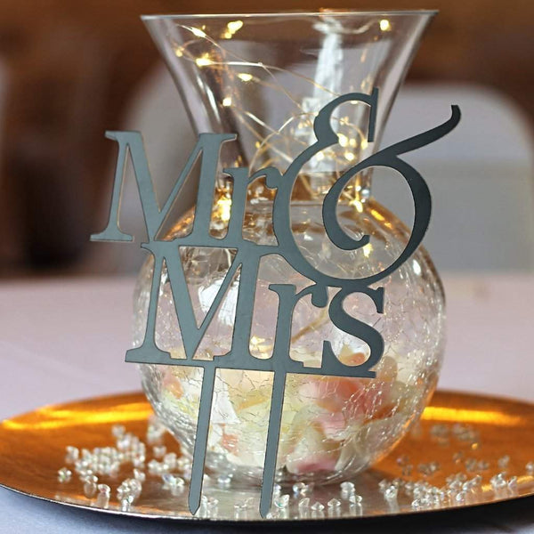 Cake Topper - Mr & Mrs-Laser-Rite