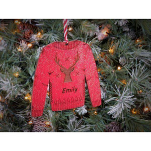 Christmas Jumper - Personalised Tree Decoration-Laser-Rite