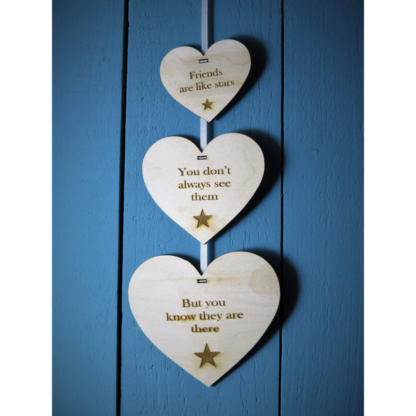 Friends Are Like Stars .... Decorative Wall Hanging-Laser-Rite