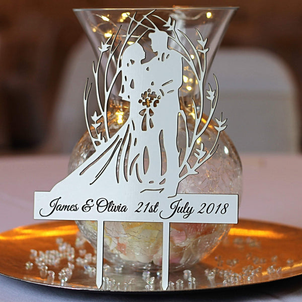 Personalised Cake Topper – Bride & Groom-Laser-Rite