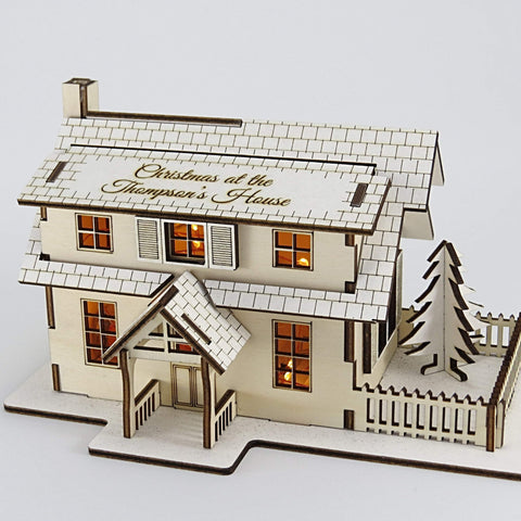 Personalised Christmas House Kit - with Lights-Laser-Rite