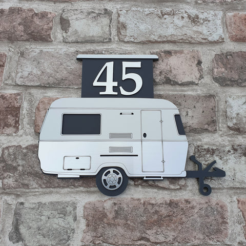 Pop Top Caravan Sign/ House Number/ Name