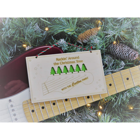 Rockin' Around the Christmas Tree Wall Plaque-Laser-Rite