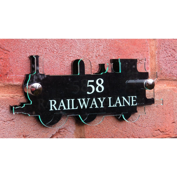 Steam Train House Number Plate-Laser-Rite