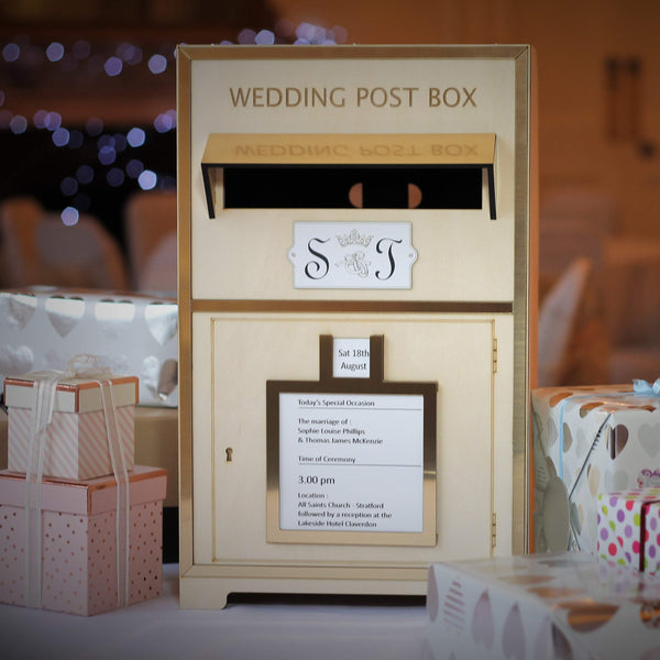 Wedding Day Post Box-Laser-Rite