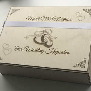 Wedding Keepsakes Box-Laser-Rite