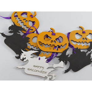 Witches & Pumpkins Halloween Decoration-Laser-Rite