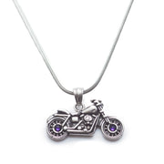 Swarovski Crystal Motorcycle Necklace