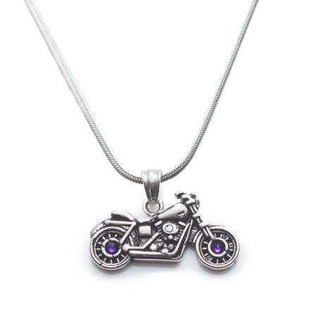 Swarovski Crystal Motorcycle Necklace - 2 left!