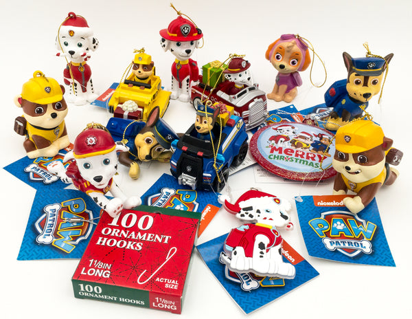starter set paw patrol kurt adler 14 piece bundle - Paw Patrol Christmas Decorations