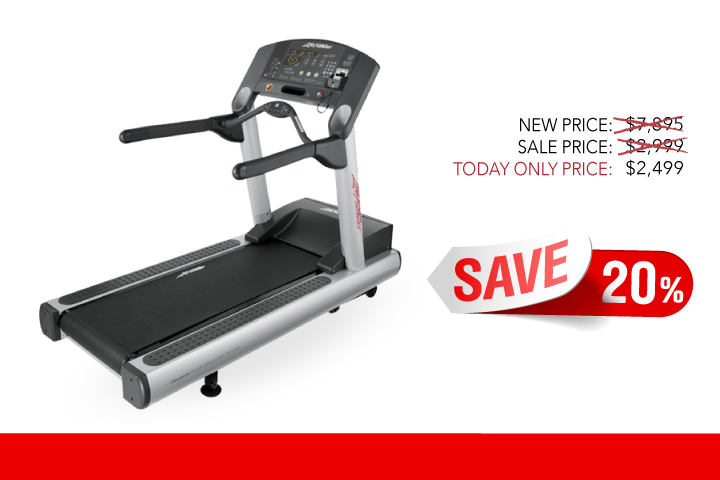 Image of a Refurbished Life Fitness CLST Treadmill