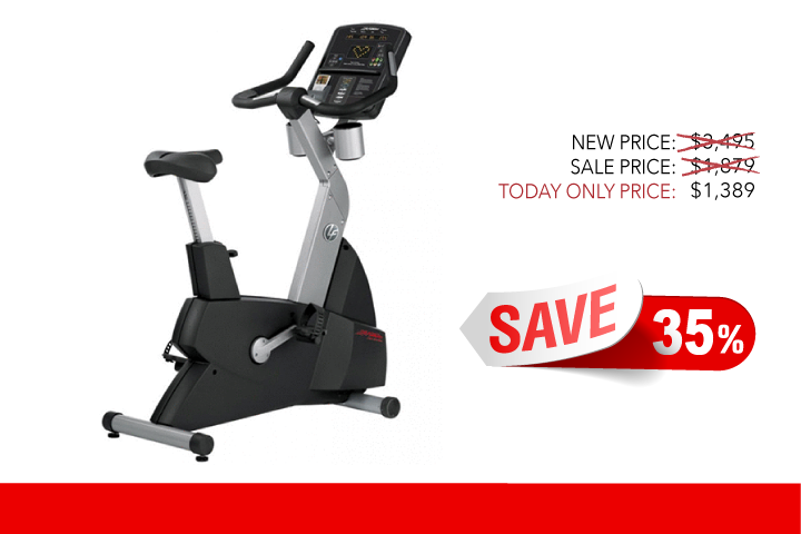 Image of Refurbished Life Fitness CLSC Integrity Series Upright Bike