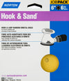 "Norton Hook & Sand 6"" x 6 Hole 80 Grit 25 per pack"