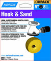 "Norton Hook & Sand 5"" x 8 Hole 80 Grit 25 per pack"