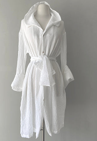 SUMMER BELL DRESS/COAT WHITE