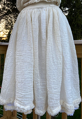 LAYERED FRILL GATHERED SKIRT