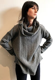 MUFFLE SWEATER WOOL GAUZE