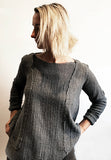 PANEL SWEATER WOOL GAUZE