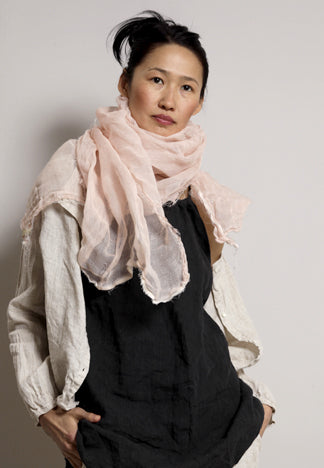 LINEN SCARF PINK