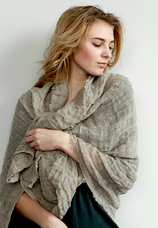 RAW LINEN SCARF