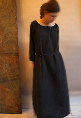 LINEN TUNNEL DRESS LONG