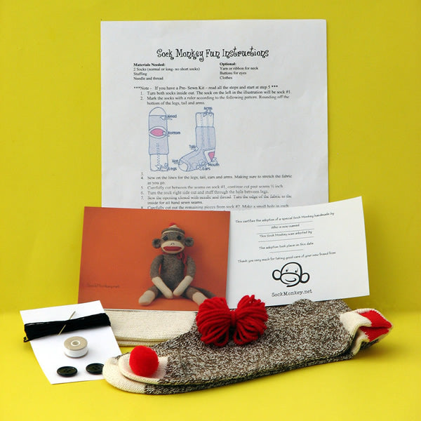 Budget Do It Yourself Sock Monkey Kit
