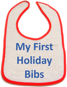 My First Diapers - My First Holiday Bibs