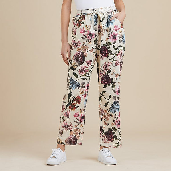 Threadz Floral Tie Waste Pant