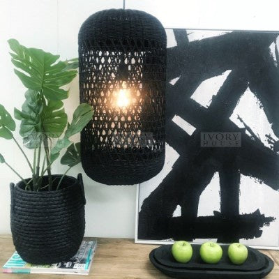 Ivory House Kudu Light Shade Tube Black