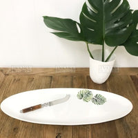 Ivory House Palm Oval Platter 57cm