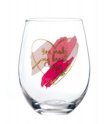 Urban Products My Heart Sing Wine Glass