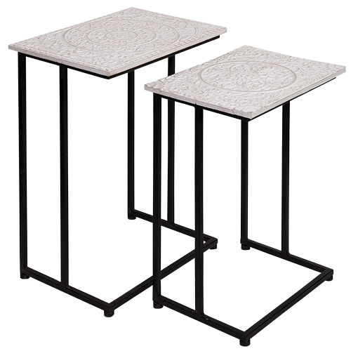 DWBH Nested Side Table Set/2 - Milk