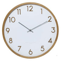 One Six Eight Scarlett White 50cm Wall Clock