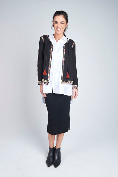 Alessi Embroidered Jacket Black