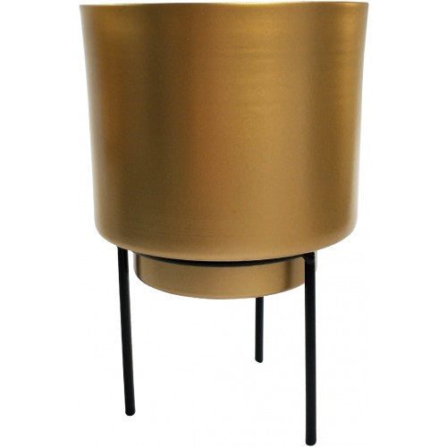 Urban Products Standing Gold Metal Planter 17cm