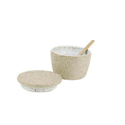 Robert Gordon Granite Collection White Sugar Pot & Spoon Set