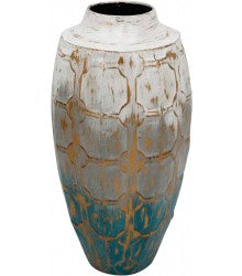 Urban Products Blue/Gold Accent Vase